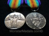 MINIATURE WW1 INTER ALLIED VICTORY MEDAL CUBA